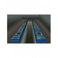 Ямные пути STRONGBEL 5400х500 + задние сдвижные платформы SP1800х500