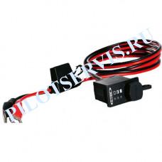 Индикатор заряда аккумулятора СТЕК 56-380 (встраиваемый в панель с кабелем и клеммами)