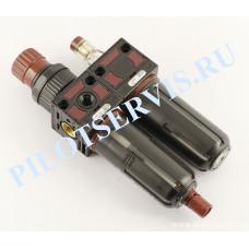 Фильтр-регулятор-смазчик TECH 420672 ¼ дюйма (антиударный корпус)