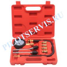 Компрессометр (шланг, 2 удлинителя, 4 адаптера) TA-G1005
