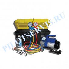 Портативное устройство для вакуумирования и заправки систем кондиционирования SMC-042-1+ New