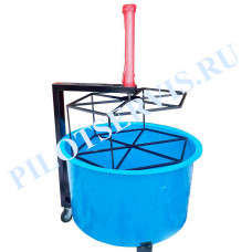 Ванна для проверки колес с пневмоприводом (из стеклопластика)