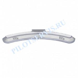Груз набивной для стальных дисков 100 грамм (25 шт в уп)