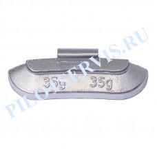 Груз набивной для стальных дисков 35 грамм (50шт в уп)