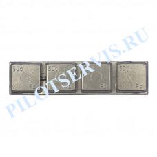 Балансировочный груз грузовой самоклеющийся 200 гр (4 Х 50 гр.), 20 шт в уп