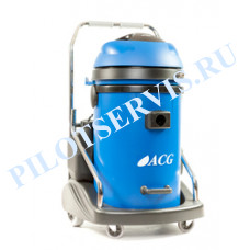 ACG 2708 X  Экстрактор (моющий пылесос), турб 2 х1700 Вт, пластик бак, 77л