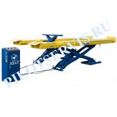 Подъемник AE&T F6109 пантографный (ножничный с длинными платформами) для сход-развала
