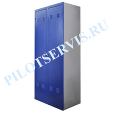 Шкаф раздевальный SIVIK ШР-2 2-х секционный, 500х800х1850мм